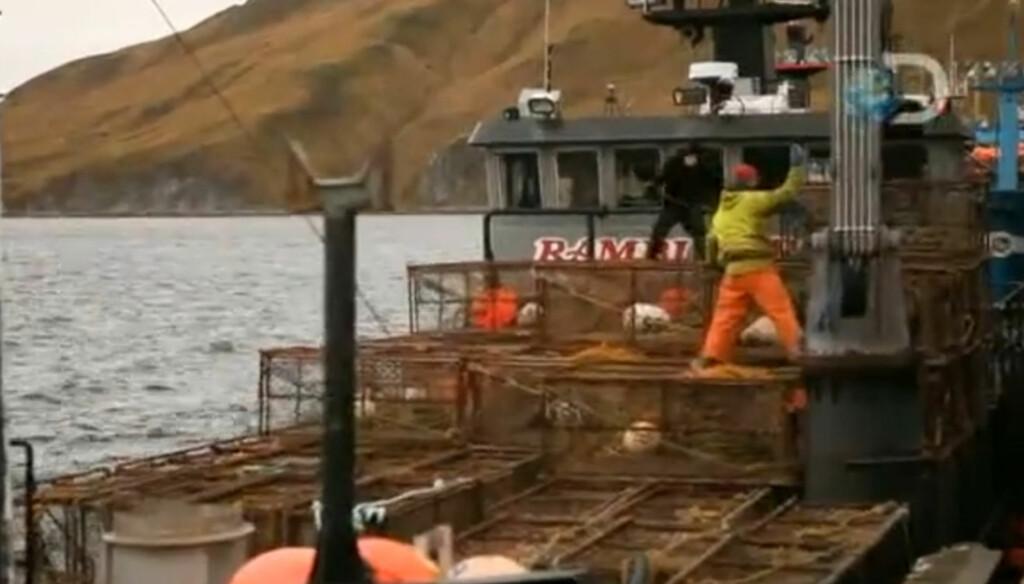 TV-STJERNE: Sammen med mannskapet på skuta «Ramblin' Rose» har Alaska-fiskeren Elliott Neese blitt TV-stjerne gjennom serien «Deadliest Catch». Foto: Discovery Networks