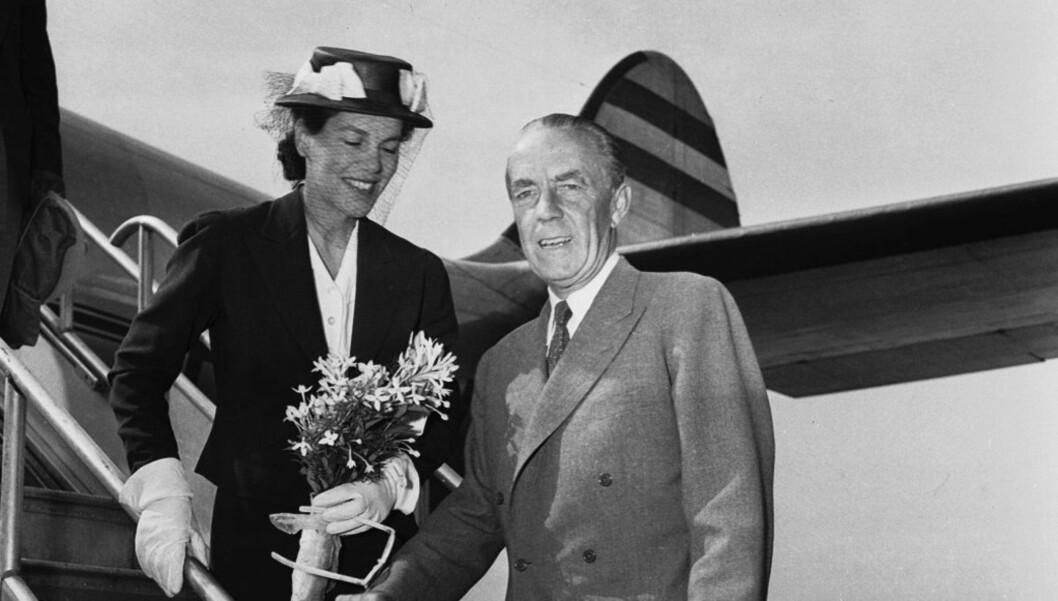 DEN FØRSTE ESTELLE: Grevinne Estelle var amerikaner og flyttet til Sverige med sin grev Folke i 1928. Deres ekteskap endte på tragisk vis i 1948. Nå har kronprinsesse Victoria oppkalt sitt barn etter sin fars gudfars kone.  Foto: © Bettmann/CORBIS