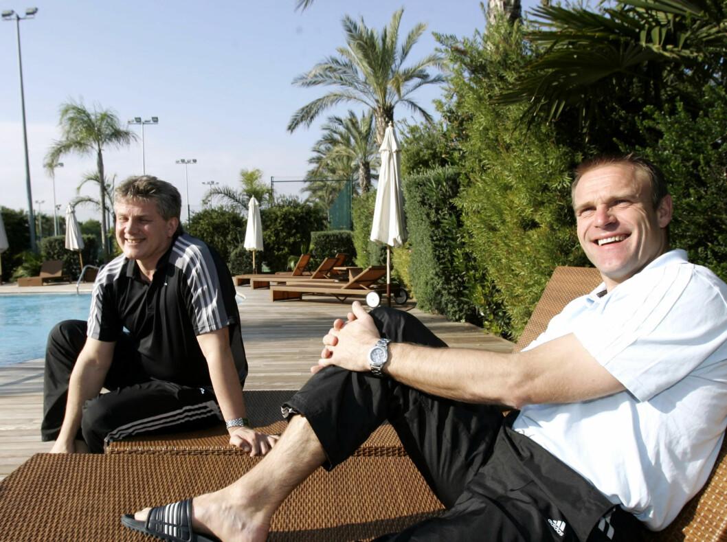 <strong>SPORTSDIREKTØR:</strong> Knut Torbjørn Eggen, da han var sportsdirektør i Rosenborg, her sammen med trener Trond Henriksen. Foto: SCANPIX