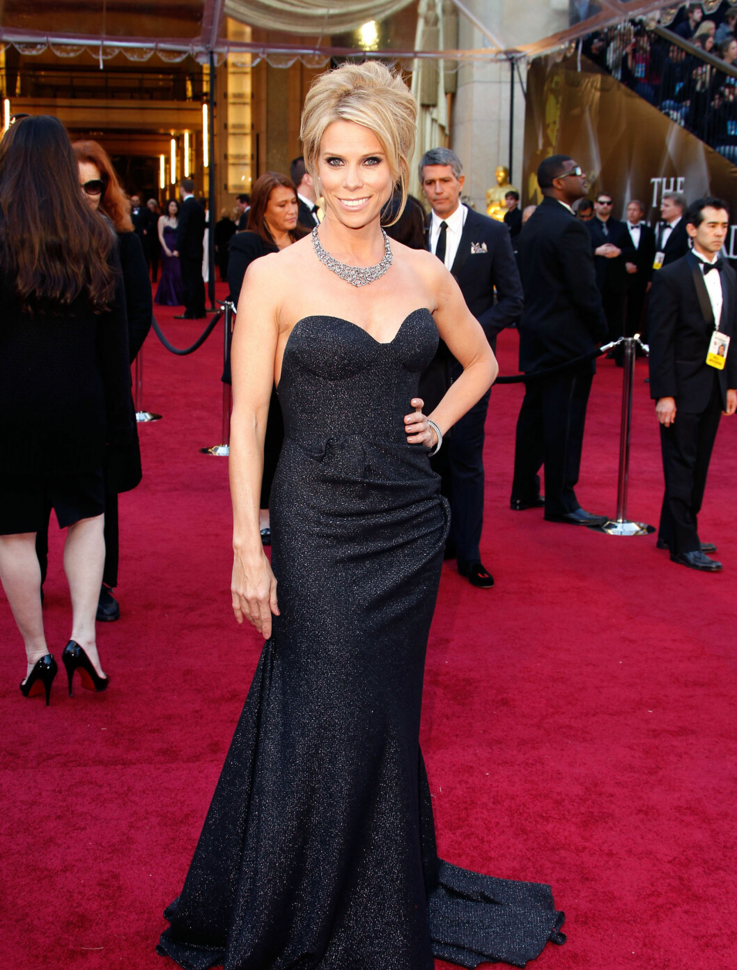 CHERYL HINES: «Curb Your Enthusiasm»-stjernen Cheryl Hines kledd i svart. Foto: All Over Press