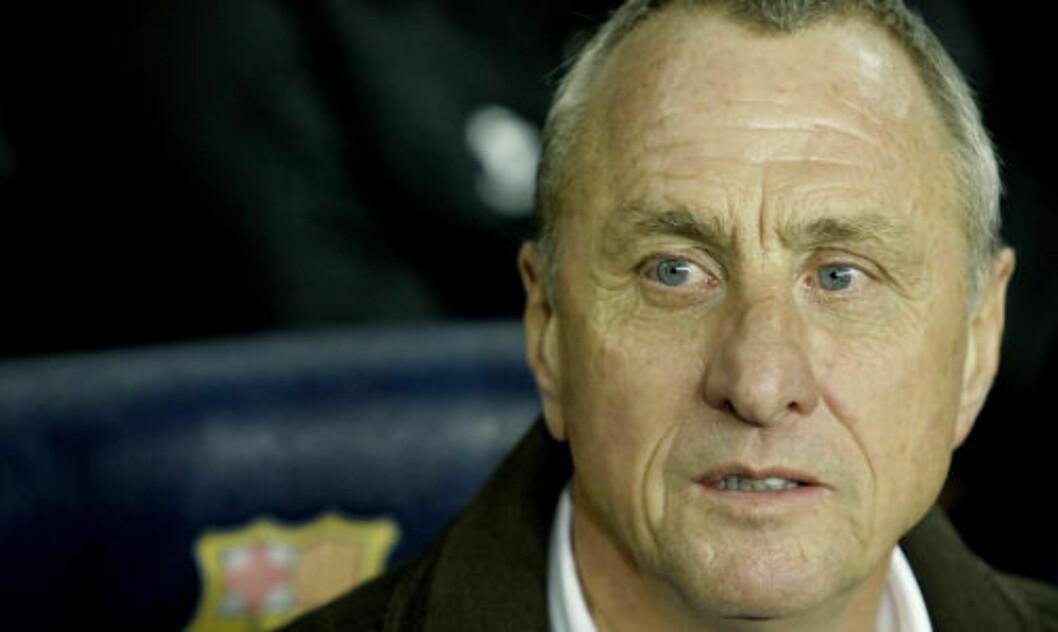 <strong>- SKITTENS OG STYGT:</strong> Slik beskriver Cruyff Nederlands spillestil. Foto: AFP PHOTO/JOSEP LAGO