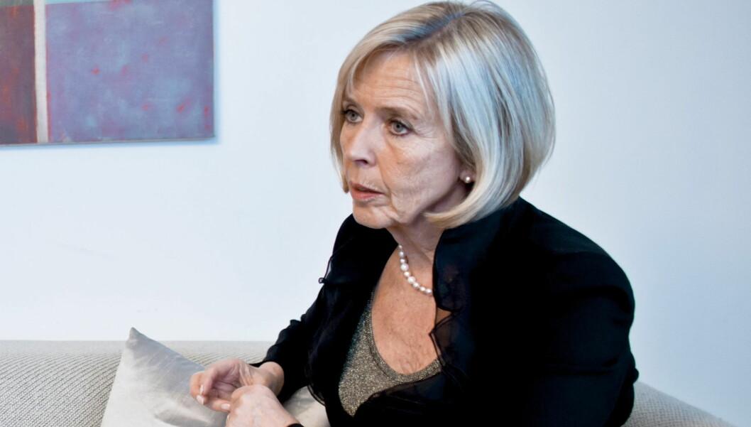 OPPLEVDE SELVMORD: Anne-Grete Strøm-Erichsen forteller nå om hvordan hun selv opplevde at noen som sto henne nær tok selvmord.  Foto: SCANPIX