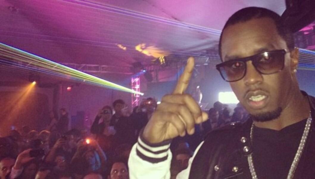 PARTYLØVE: Sean «Diddy» Combs sier ikke nei til en fest. Det burde han kanskje gjort før han ble lagt inn på sykehus med migrene.  Foto: Diddy/Twitter