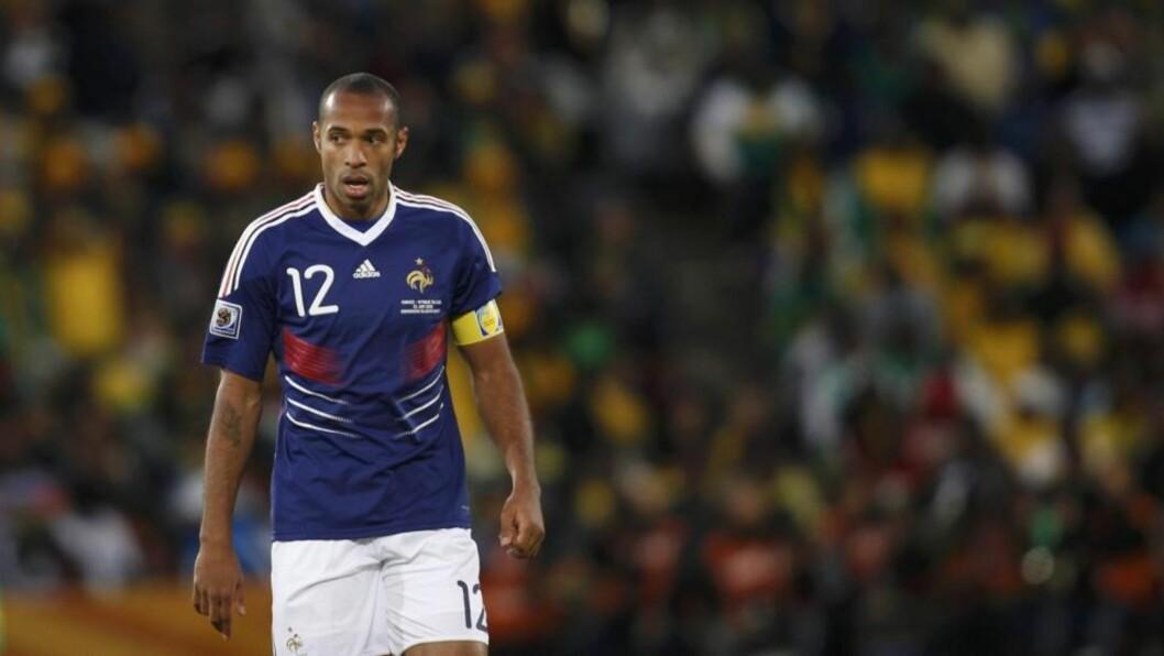 <strong>KLAR FOR AMERIKA:</strong> Thierry Henry bytter ut La Liga med MLS-ligaen. Her for Frankrike i VM. Foto: REUTERS/Adnan Abidi