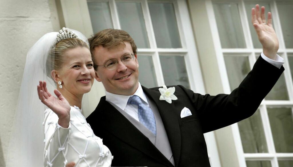 KONGELIGE HEDERSGJESTER: Prins Johan Friso giftet seg i 2004 med sin Mabel. Blant hedersgjestene var det norske kongeparet. Foto: Reuters