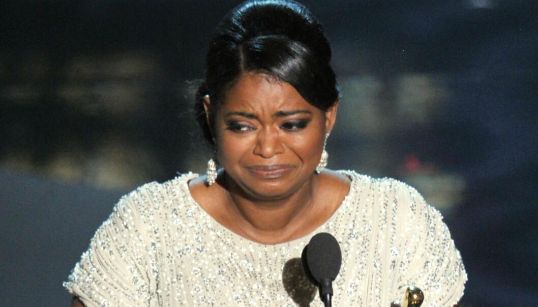 BESTE BIROLLE: Octavia Spencer vant for beste kvinnelige birolle, og fikk problemer med å snakke på grunn av gråten i halsen. Foto: All Over Press