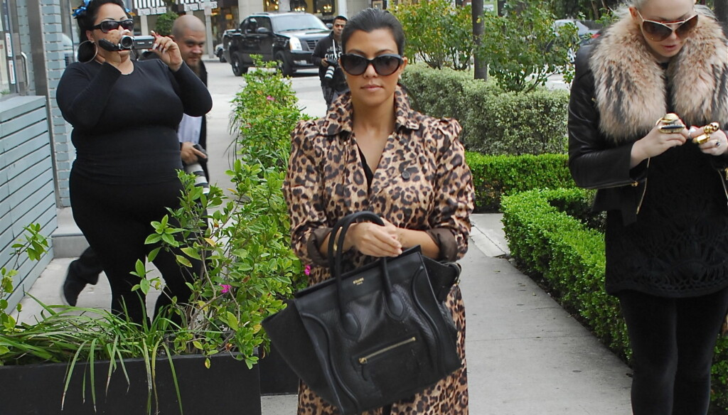 FÅR JENTE: Det hevdes at Kardashian venter en jente. Foto: All Over Press