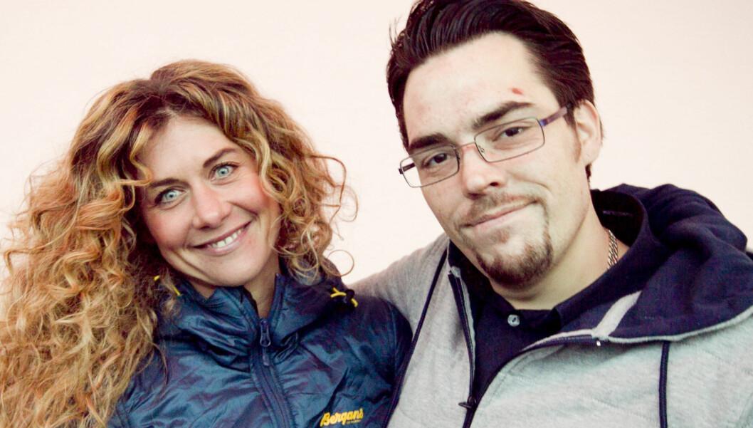 PÅ TV: Herman Frisch er for tiden å se på TV 2 i serien «Til toppen av Norge». Her er han sammen med programleder Cecilie Skog. Foto: TV 2