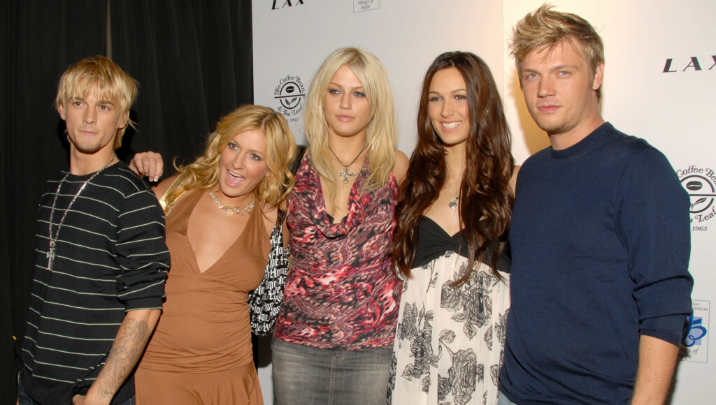 OVERDOSE: Leslie (i midten) skal angivelig ha dødd etter en overdose. Foto: All Over Press