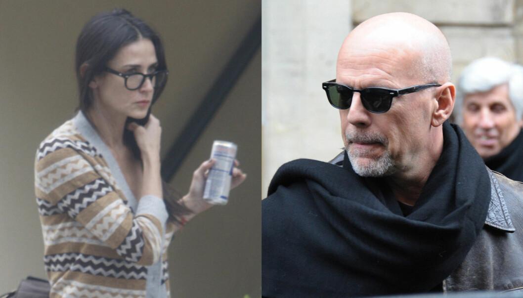 TRYGLET EKSEN: Bruce Willis skal ha vært hjemme hos ekskona Demi Moore og tryglet henne om å motta hjelp for sin skrantende helse. Foto: All Over Press/ Stellapictures