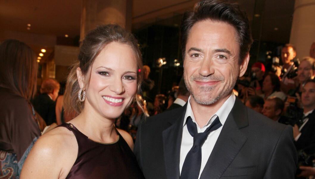 AVSLØRTE KJØNNET: Da Downey Jr. gjestet talshowet til Jay Leno i desember, røpet han at det ville bli en gutt. Det likte ikke kona. Foto: All Over Press