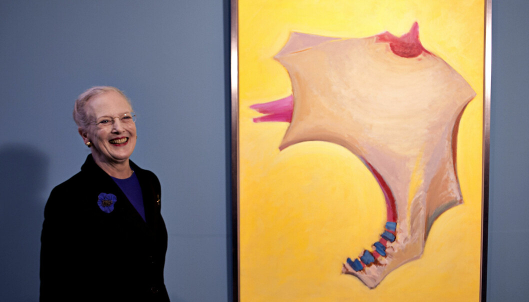 UTSTILLING: Dronning Margrethe åpnet nylig utstillingen «Farvens själ» på Arken i Ishøy utenfor København.  Foto: Stella Pictures