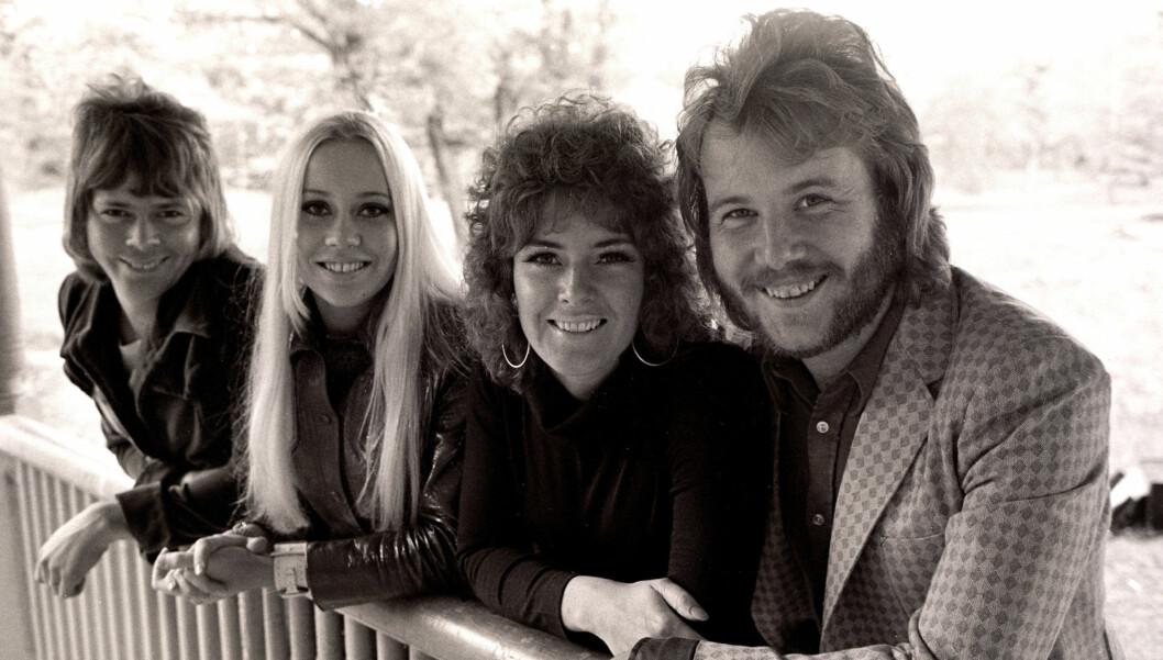 <strong>DEN GANG DA:</strong> Dette bildet er tatt helt på begynnelsen av ABBAs suksessrike karriere, 14.september 1970. Foto: Stella Pictures