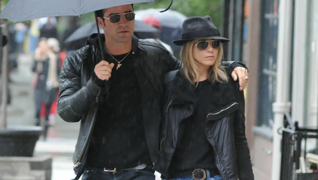 VENTER IKKE BARN: Det har blitt spekulert i om Jennifer Aniston venter barn sammen med kjæresten Justin Theroux. Nå er ryktene lagt døde. Foto: Stella Pictures