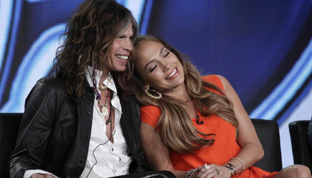 <strong>FIKK SJOKK:</strong> Jennifer Lopez tok Steven Tyler på fersken i å bade naken. Foto: Reuters
