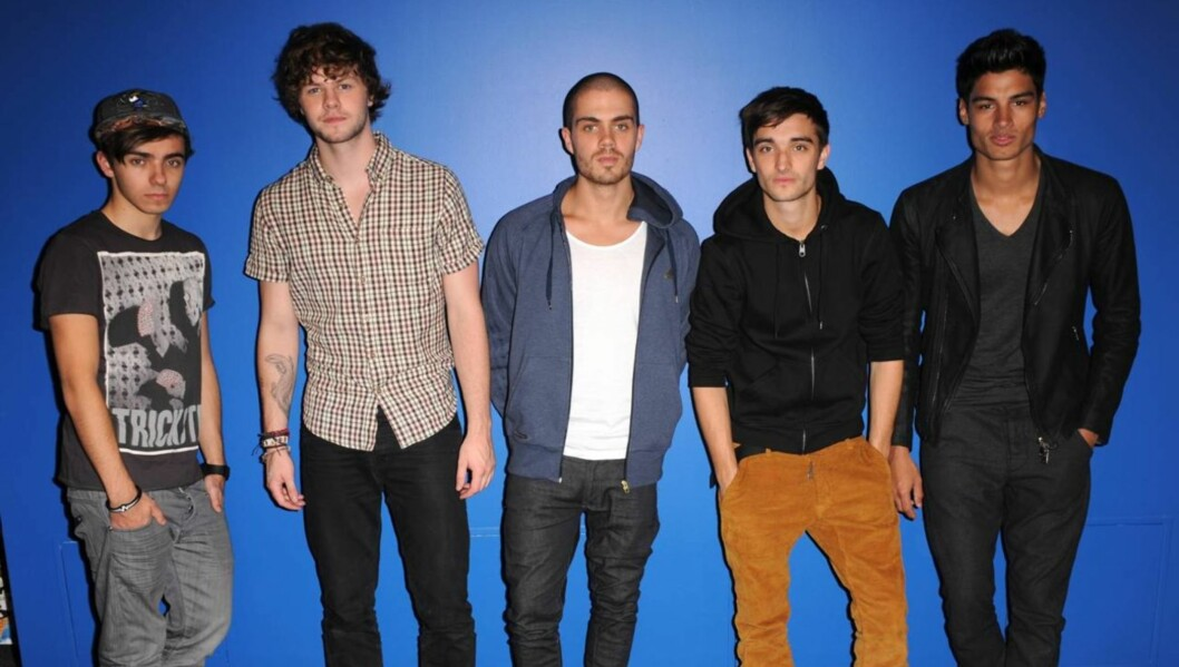 <strong>GUTTA BOYS:</strong> Nathan Sykes (18), Jay McGuiness, Max George (23), Tom Parker (23) og Siva Kaneswaran (23) utgjør bandet The Wanted.  Foto: All Over Press