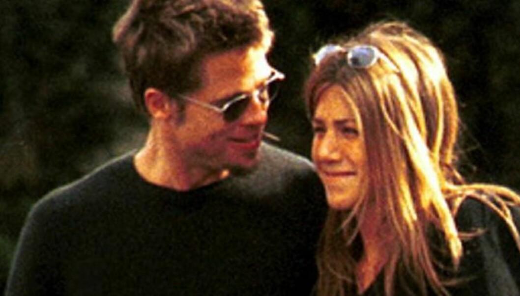 <strong>FORSØKTE:</strong> Brad Pitt og Jennifer Aniston prøvde å få barn.  Foto: Stella Pictures