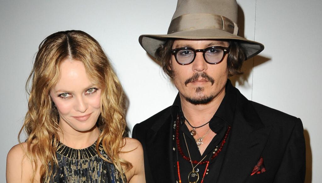 LANGT NEDE: Både Vanessa Paradis og Johnny Depp er svært langt nede for tiden. Foto: FameFlynet Norway