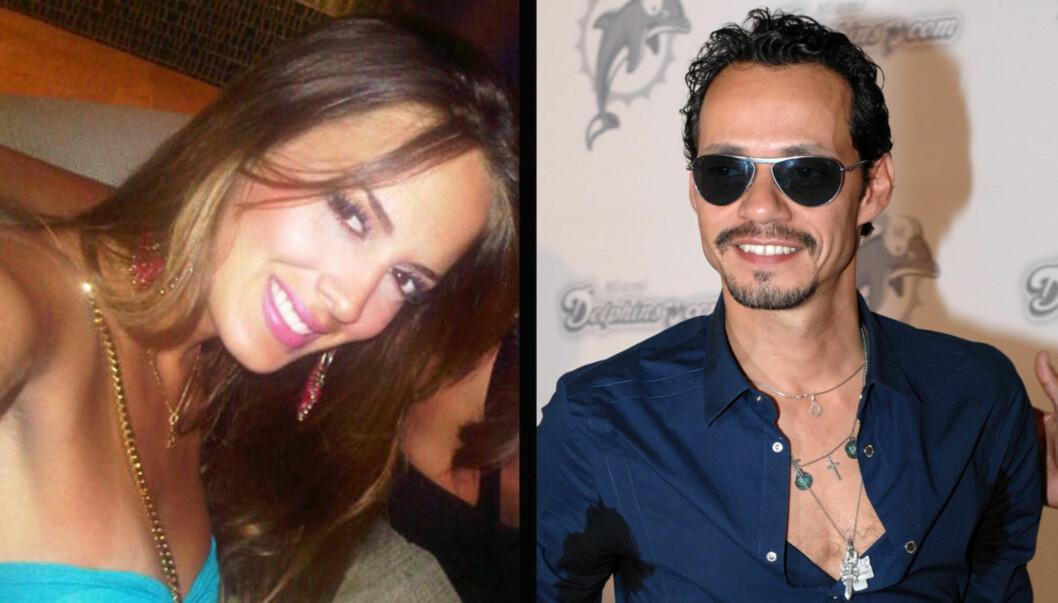 NYTT PAR: Marc Anthony avslørte på twitter at han nå er kjæreste med modellen Shannon De Lima. De to møttes for flere måneder siden i Miami. Foto: twitter/ splashnews