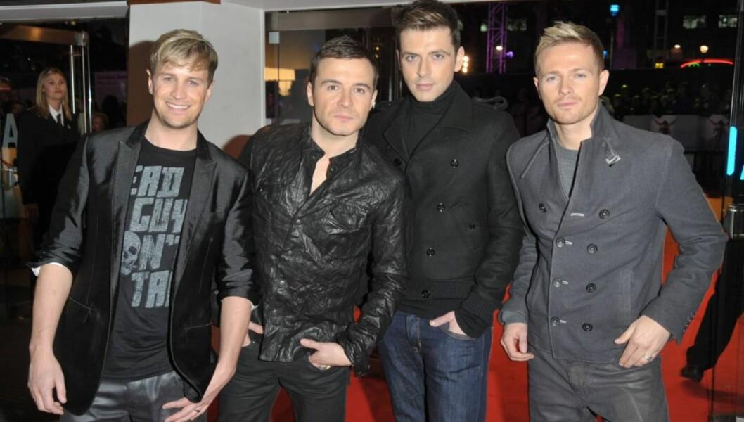 SUKSESSGRUPPE: Westlife-medlemmene (f.v.) Kian Egan, Shane Filan, Mark Feehily og Nicky Byrne gjorde tidligere stor suksess med sin musikk. Foto: All Over Press
