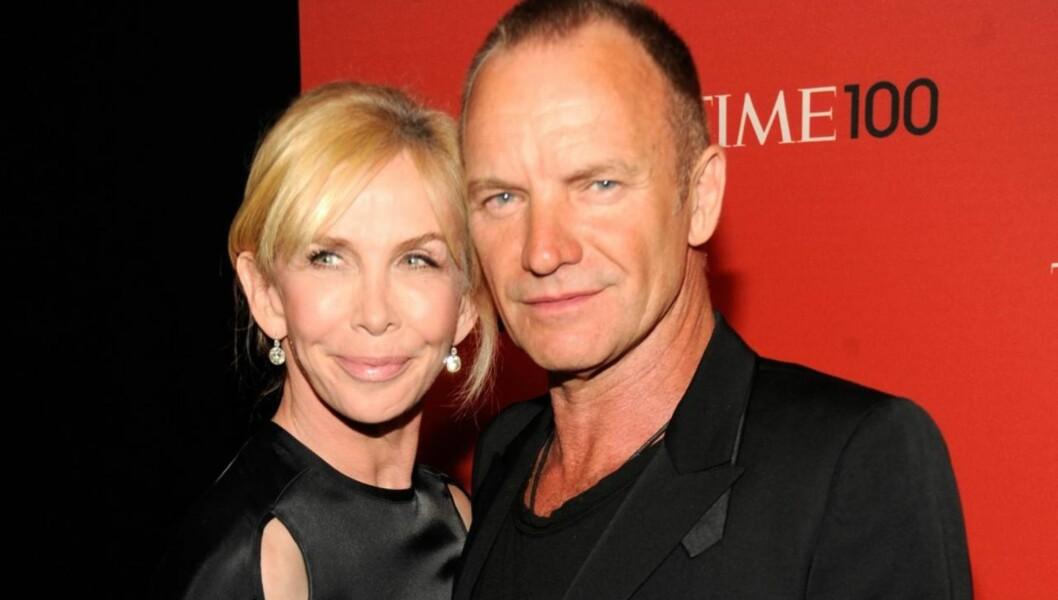 SEXLØGN: Trudie Styler avslører at hun og Sting ikke har tantrisk sex i flere timer, slik som ryktene skal ha det til.  Foto: All Over Press