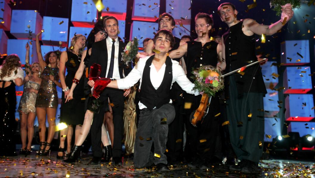 POPULÆRT: Melodi Grand Prix er populært blant oddstipperne. Her fra da Alexander Rybak vant Norgesfinalen i 2009. Foto: STELLA PICTURES
