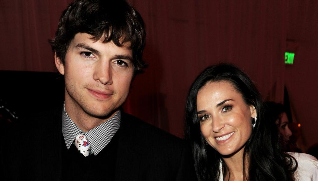 DRAMATISK BRUDD: Demi Moore og Ashton Kutcher var et av Hollywoods superpar før de gjorde det slutt i november.  Foto: All Over Press