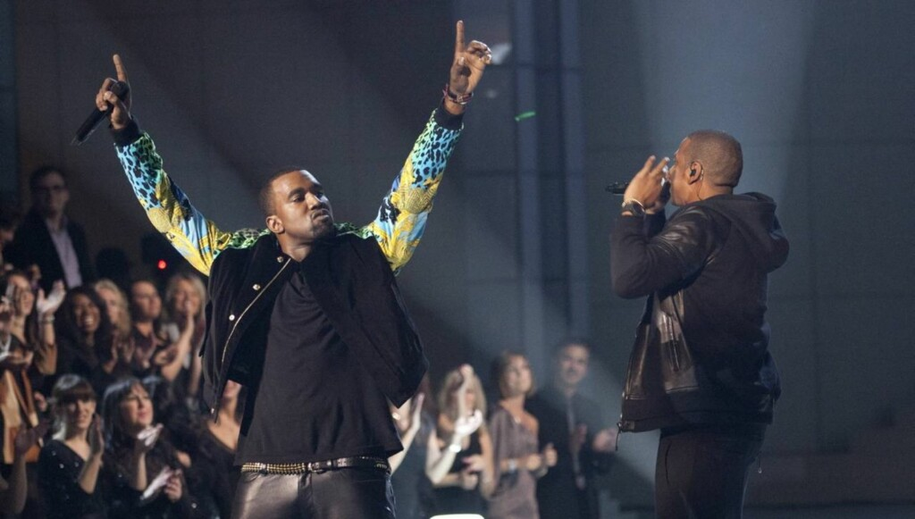 SUPERDUO: Kanye West og Jay Z fikk svimlende 40 millioner kroner for å opptre én kveld i Dubai.  Foto: All Over Press