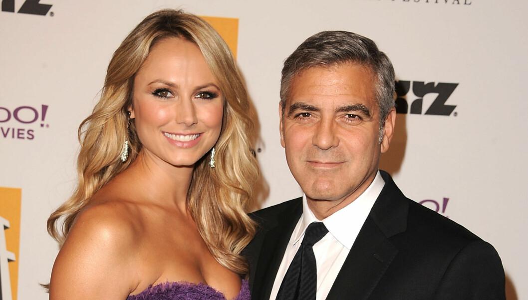 TEMMET CLOONEY: Stacy Keibler ble sammen med George Clooney i september, og nå drømmer hun om å stifte familie med skuespilleren.  Foto: All Over Press