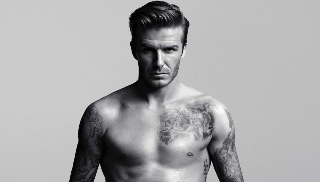 DESIGNER UNDERTØY: David Beckham stiller opp på disse nye, sexy bildene for å promotere sin nye undertøyskolleksjon for H&M.  Foto: H&M