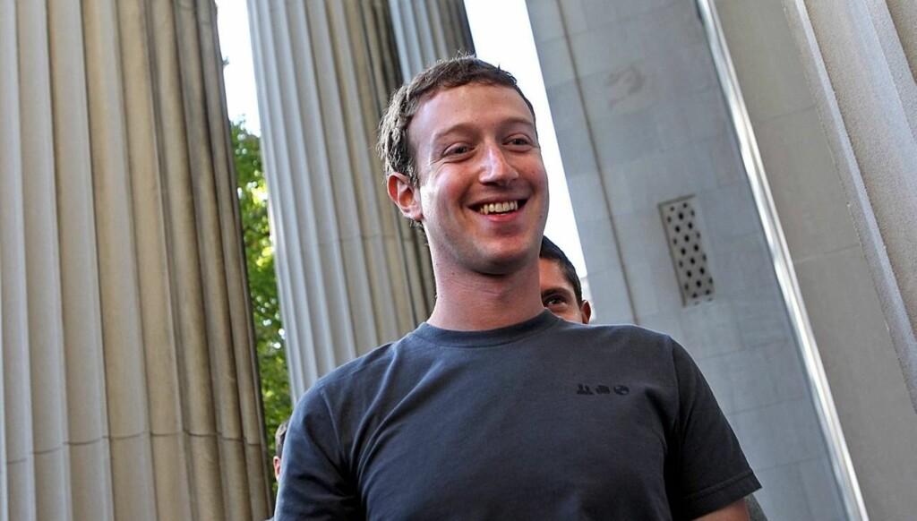 RIK: Zuckerberg kan smile hele veien til banken. Han er nemlig god for flere milliarder kroner. Foto: All Over Press
