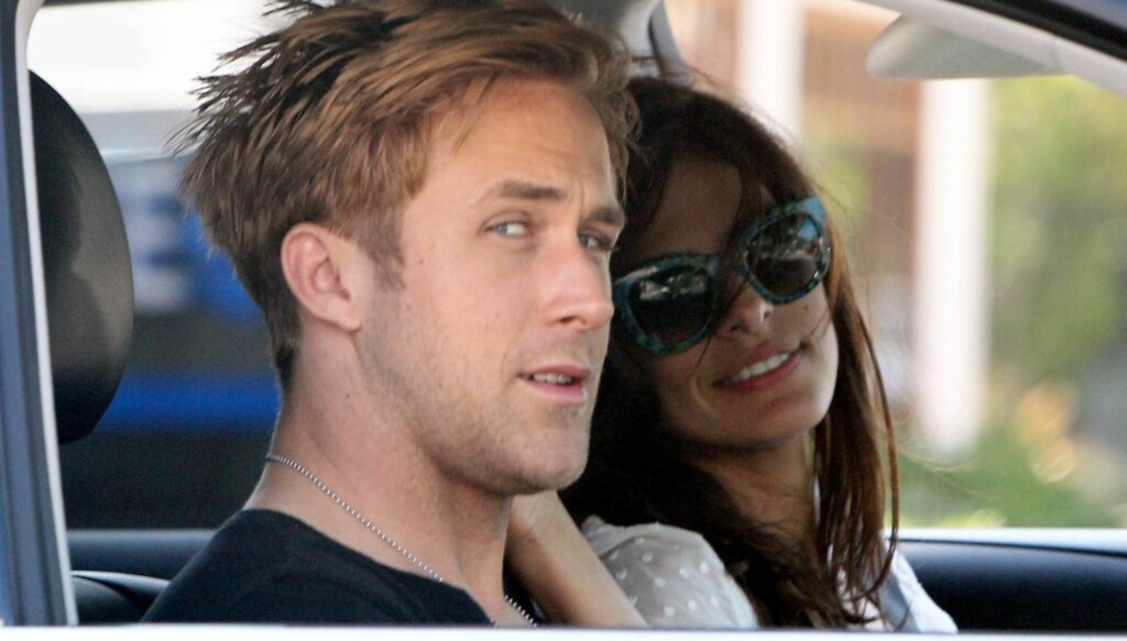 STJERNEPAR: Eva Mendes og Ryan Gosling er høyt oppe på listen over it-par i Hollywood for tiden. Foto: Jack Blanco/x17online
