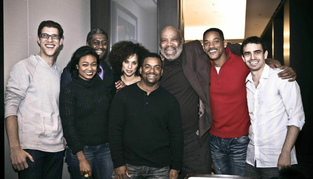 """GJENFORENT: I julen samlet """"Fresh Prince""""-skuespillerne seg til en hyggelig middag, men Smiths tidligere kollega Janet Hubert nektet å delta.  Foto: DISTR. STELLA PICTURES"""