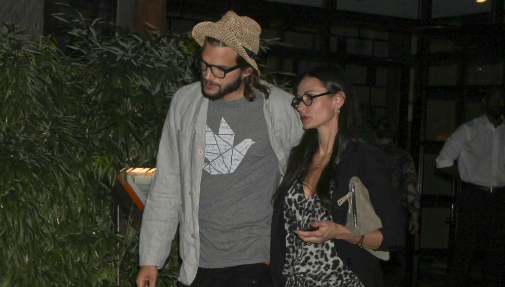 BRYR SEG: Kilder sier Kutcher fortsatt bryr seg om Demi Moore, og er bekymret for henne. Foto: Stella Pictures