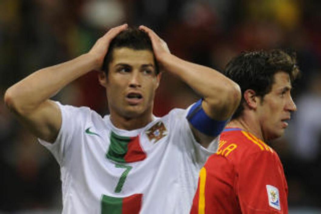 <strong>MØTER NORGE:</strong> Ronaldo og Portugal var ikke mye dårligere enn verdensmester Spania, mener Drillo. Norge møter Portugal i EM-kvaliken i høst. Foto: AFP/ LIU JIN