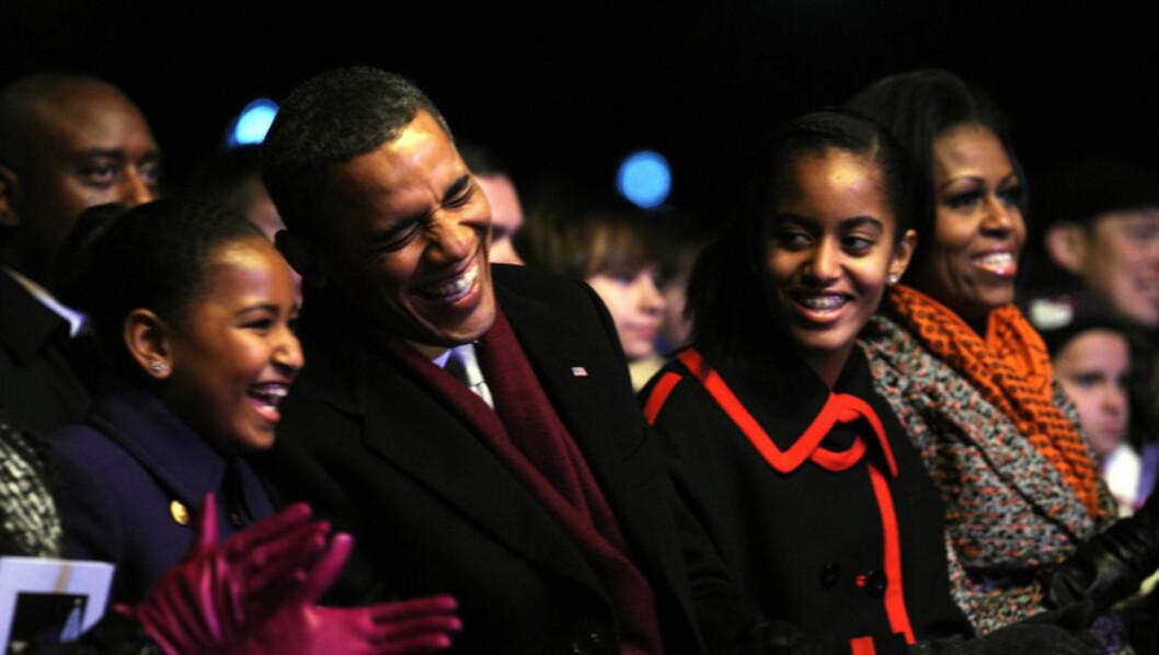 KOSTBAR JULEMORE: Juleferien til USAs president Barack Obama, hans kone Michelle og deres barn Sasha og Malia koster amerikanske skattebetalere hele 24 millioner kroner ifølge Ekstra Bladet. Foto: Stella Pictures
