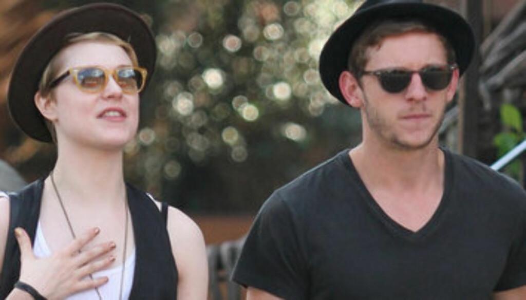 FÅR RING PÅ FINGEREN?: Kilder nær Evan Rachel Wood og Jamie Bell, hevder de to snart kommer til å forlove seg. Foto: Stella Pictures