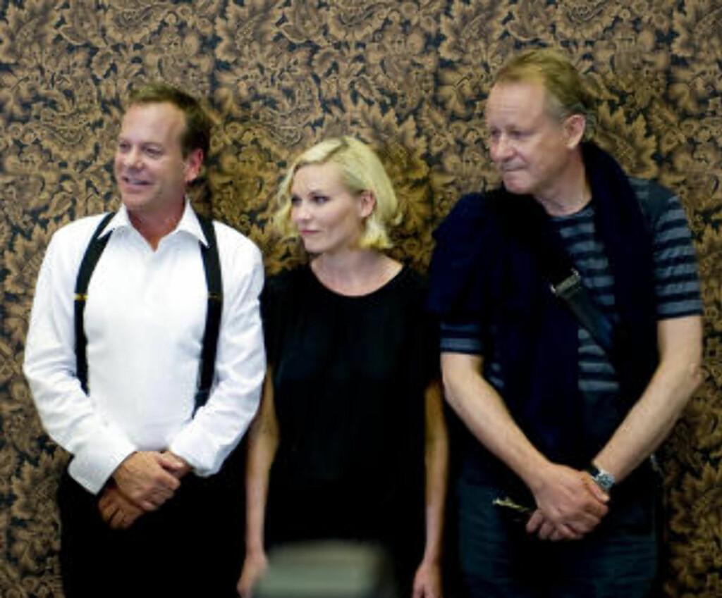 STORE NAVN: Regissør Lars von Trier har blant annet fått med seg Kiefer Sutherland, Kirsten Dunst og Stellan Skarsgård. Foto: SCANPIX