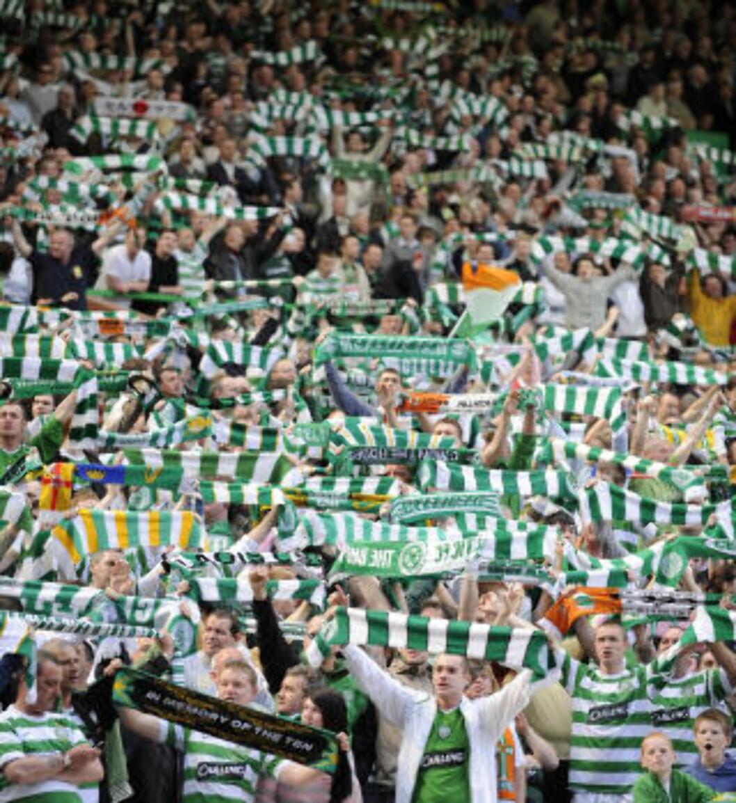 <strong>STEMNING:</strong> Celtic-supporterne. Foto: Reuters