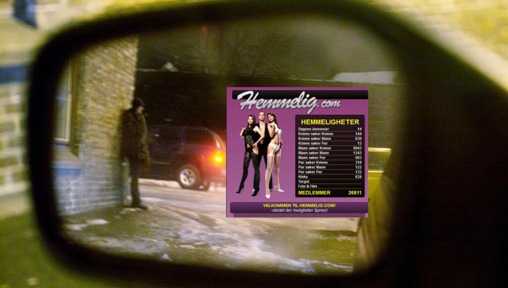 BESØKES AV PROFILERTE NORDMENN: Flere profilerte nordmenn skal ifølge Dagbladet ha tatt kontakt med prostituerte kvinner via nettsiden Hemmelig.com. Foto: SCANPIX/faksimile