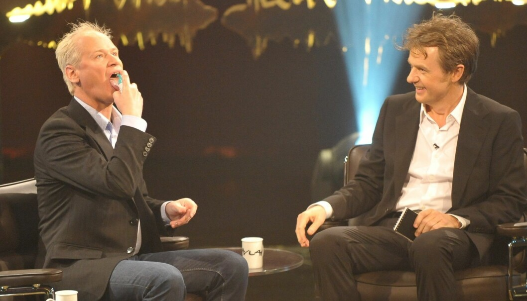 MOROMANN: I 2010 var Gustafsson med på Skavlan. Foto: Stella Pictures