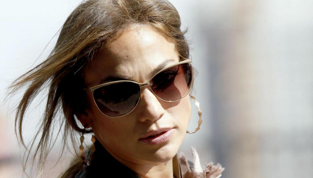 FLØY USIKRET: Jennifer Lopez er en av de som uvitende skal ha fløyet med det livsfarlige privatflyet. Foto: All Over Press