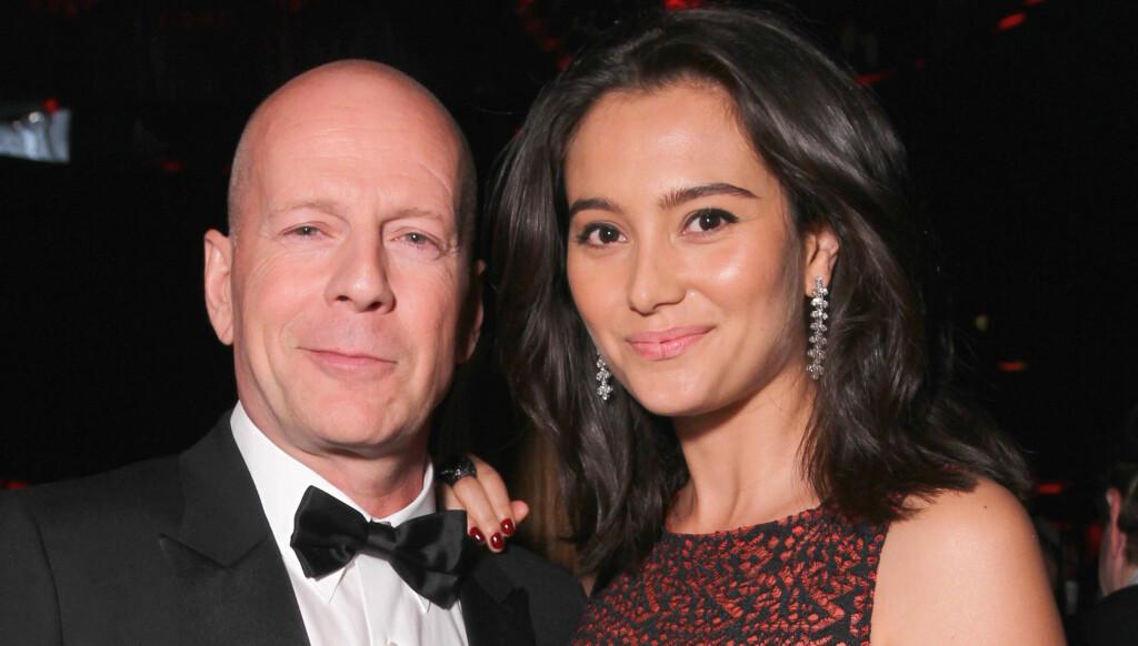 RASER: Emma Heming liker dårlig at Bruce Willis bruker mer tid på ekskona enn sitt ufødte barn. Foto: All Over Press