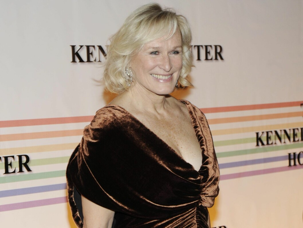 KLAR FOR FEST: Glenn Close har i likhet med Streep en lang karriere bak seg, og kom for å hylle venninnen.  Foto: All Over Press