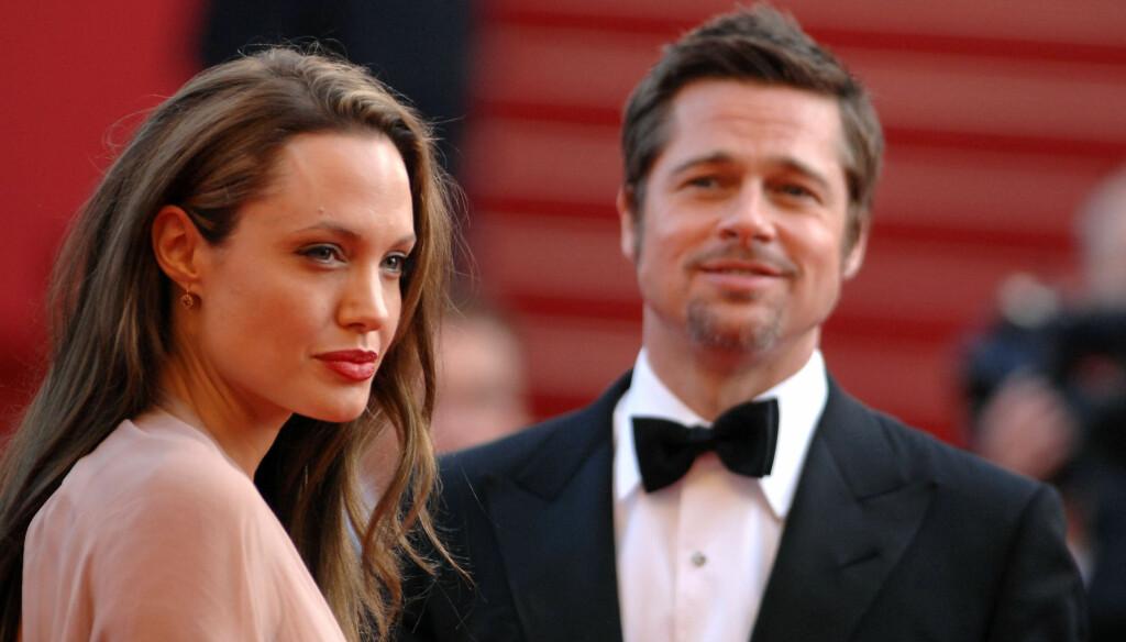 FORPLIKTET: Jolie forklarer at de ikke trenger å gifte seg fordi med seks barn er de uansett forpliktet. Foto: All Over Press