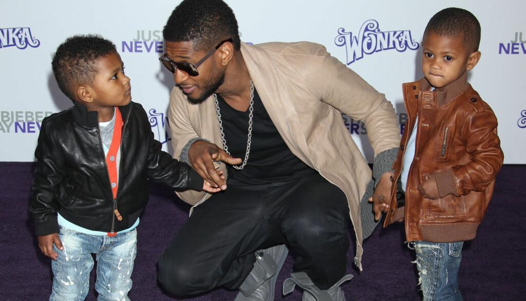 KAN MISTE BARNA: Ushers eks-kone ønsker ikke at sangstjernen skal ha kontakt med de to sønnene Usher og Naviyd.  Foto: All Over Press