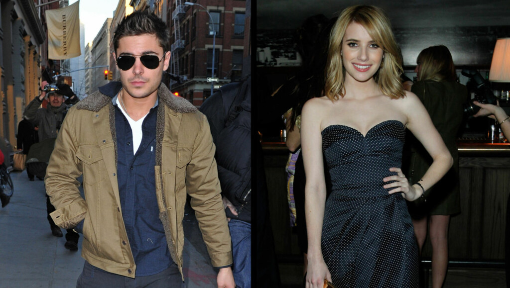 NYTT PAR?: Zac Efron og Emma Roberts. Foto: All Over Press
