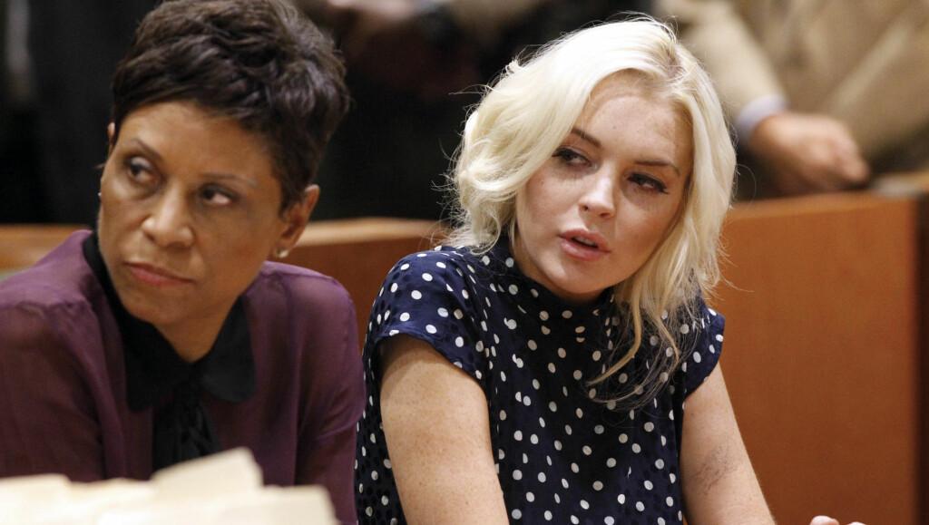 TRØBBEL: Lindsay Lohan har det siste året vært ofte i rettsalen etter ulike lovbrudd som fyllekjøring og tyveri.  Foto: All Over Press