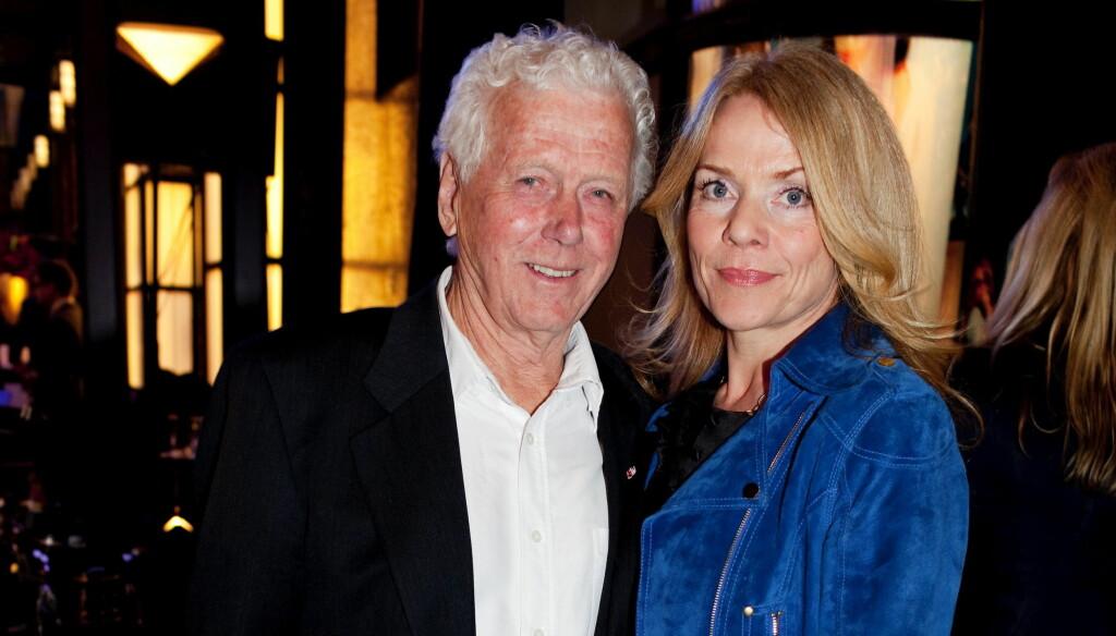 UNG TIL SINNS: Torsdag fyller Maurstad 85 år, men forteller at konen Beate Eriksen er en av tingene som holder ham ung.  Foto: VG