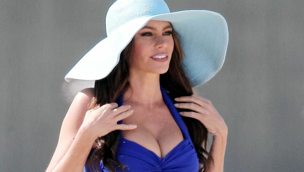 FORETREKKER FORMENE: Sofia Vergara fikk beskjed av agenten sin om å redusere brystene, men valgte istedet å beholde sine flotte former.  Foto: All Over Press